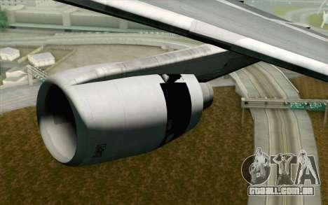 Lookheed L-1011 Hawaiian para GTA San Andreas vista direita