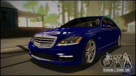 Mercedes-Benz S65 AMG 2012 Road version para GTA San Andreas