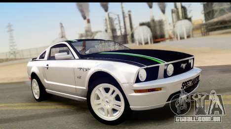 Ford Mustang GT para GTA San Andreas vista inferior