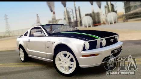 Ford Mustang GT para GTA San Andreas vista inferior