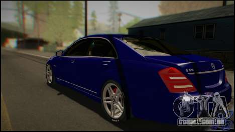 Mercedes-Benz S65 AMG 2012 Road version para GTA San Andreas traseira esquerda vista