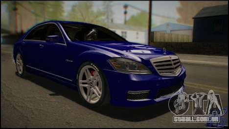 Mercedes-Benz S65 AMG 2012 Road version para GTA San Andreas esquerda vista