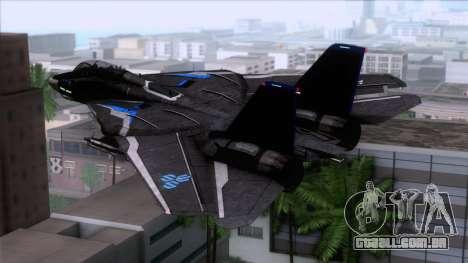 F-14 Neon Blue Macross Frontier para GTA San Andreas esquerda vista