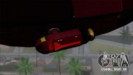 Shuttle v1 (no wheels) para GTA San Andreas traseira esquerda vista