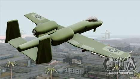 A-10 Warthog Shark Attack para GTA San Andreas esquerda vista
