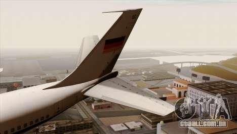 Boeing 707-300 Luftwaffe para GTA San Andreas traseira esquerda vista