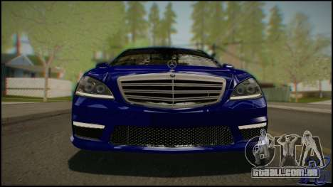 Mercedes-Benz S65 AMG 2012 Road version para GTA San Andreas vista traseira