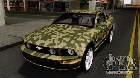 Ford Mustang GT PJ Wheels 1 para vista lateral GTA San Andreas