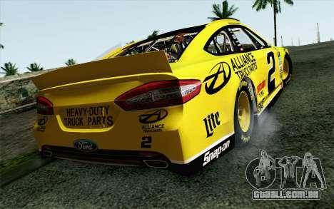 NASCAR Ford Fusion 2013 v4 para GTA San Andreas esquerda vista