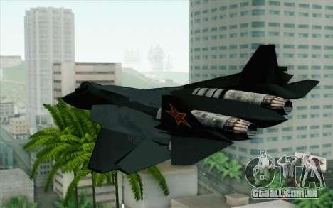 Sukhoi PAK-FA China Air Force para GTA San Andreas esquerda vista