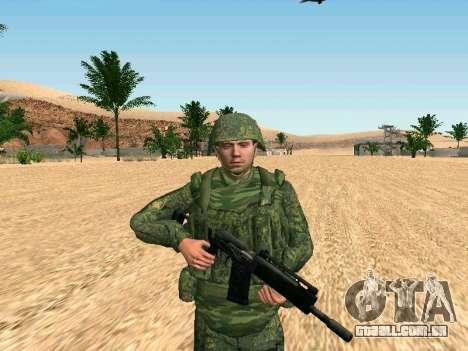 O militar russo está em uma nova forma para GTA San Andreas por diante tela