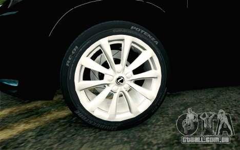 Lexus NX 200T v4 para GTA San Andreas traseira esquerda vista