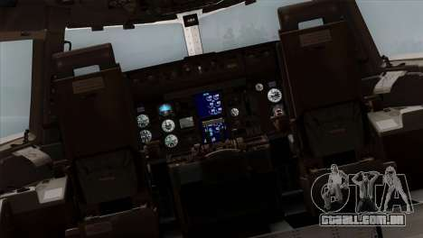 Boeing E-767 Japan Air Self-Defense Force EoJ para GTA San Andreas vista interior