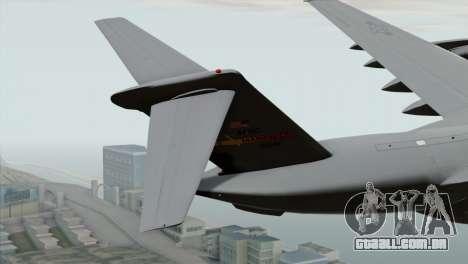 C-17A Globemaster III USAF March para GTA San Andreas traseira esquerda vista