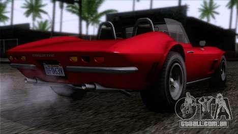 GTA 5 Invetero Coquette Classic TL IVF para GTA San Andreas esquerda vista
