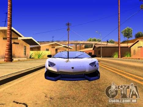Lamborghini Aventador Novitec Torado para GTA San Andreas traseira esquerda vista