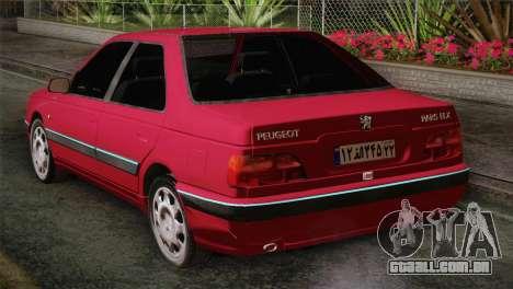 Peugeot Pars para GTA San Andreas esquerda vista