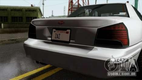 GTA 5 Vapid Stanier II SA Style para GTA San Andreas vista traseira