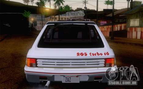 Peugeot 205 Turbo 16 1984 [IVF] para vista lateral GTA San Andreas