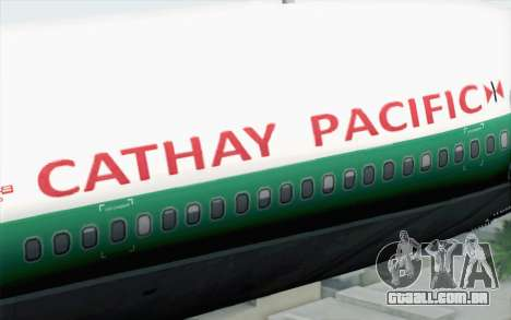 Lookheed L-1011 Cathay P para GTA San Andreas vista traseira