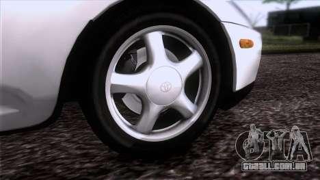 Toyota Supra US-Spec (JZA80) 1993 HQLM para GTA San Andreas traseira esquerda vista