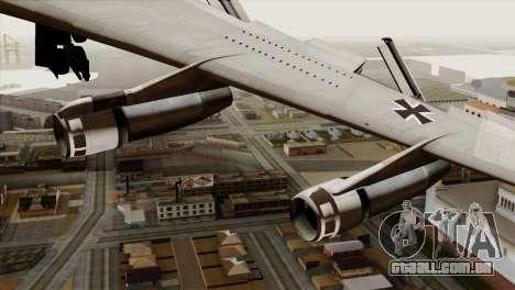 Boeing 707-300 Luftwaffe para GTA San Andreas vista direita