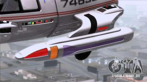 Shuttle v2 Mod 1 para GTA San Andreas traseira esquerda vista