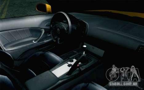 Honda S2000 Cabrio para GTA San Andreas vista direita