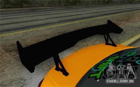 Mitsubishi Lancer Evolution X v2 para GTA San Andreas vista direita
