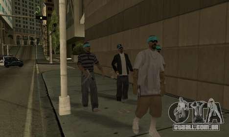 Alteração de áreas de gangues e suas armas v1.1 para GTA San Andreas sexta tela
