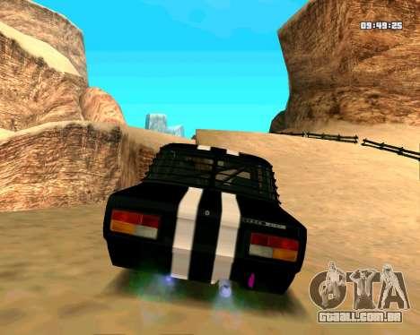 VAZ 2107 CÓLICAS para GTA San Andreas vista direita
