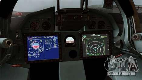 SU-37 UPEO para GTA San Andreas vista traseira