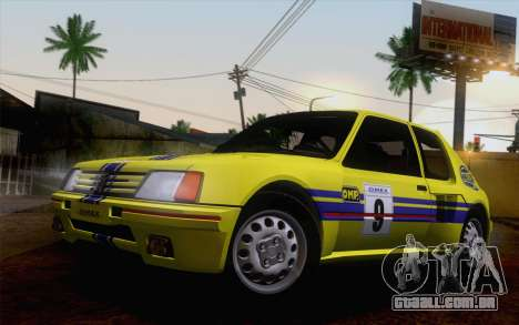 Peugeot 205 Turbo 16 1984 [IVF] para GTA San Andreas vista inferior