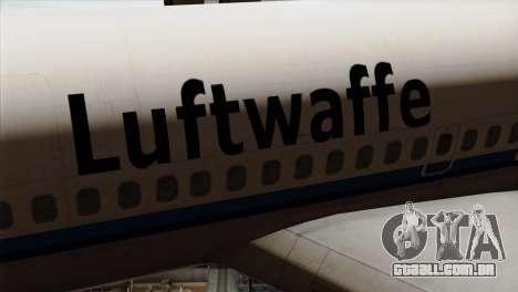 Boeing 707-300 Luftwaffe para GTA San Andreas vista traseira