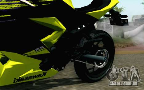 Kawasaki Ninja 250RR Mono Yellow para GTA San Andreas vista direita