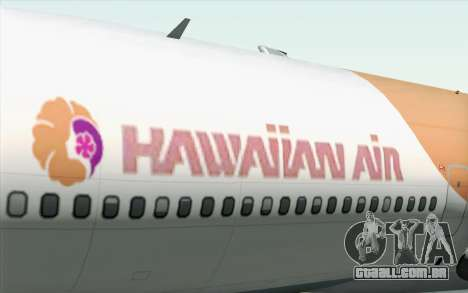 Lookheed L-1011 Hawaiian para GTA San Andreas vista traseira
