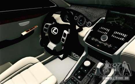 Lexus NX 200T v4 para GTA San Andreas vista direita