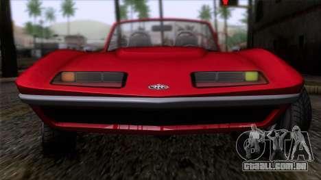GTA 5 Invetero Coquette Classic TL IVF para GTA San Andreas vista traseira