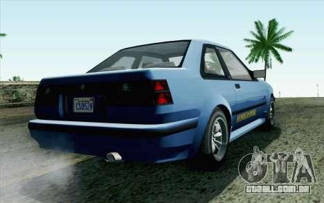 GTA 5 Karin Futo SA Mobile para GTA San Andreas esquerda vista