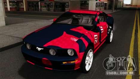 Ford Mustang GT PJ Wheels 1 para GTA San Andreas vista traseira