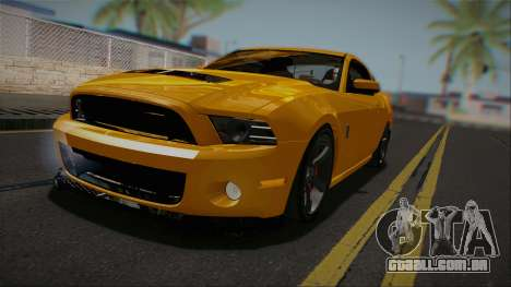 Ford Shelby GT500 2013 Vossen version para GTA San Andreas traseira esquerda vista