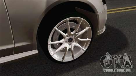 Audi S4 Sedan 2010 para GTA San Andreas traseira esquerda vista