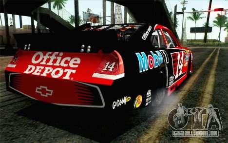 NASCAR Chevrolet Impala 2012 Short Track para GTA San Andreas esquerda vista