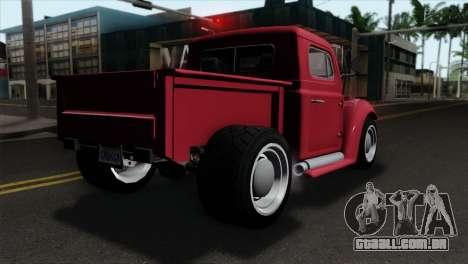 GTA 5 Bravado Rat-Truck IVF para GTA San Andreas esquerda vista