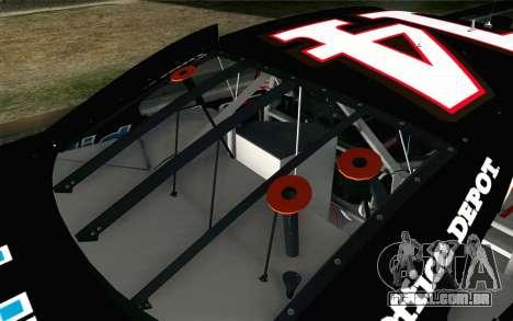 NASCAR Chevrolet Impala 2012 Short Track para GTA San Andreas vista traseira