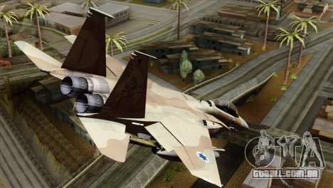 F-15E Strike Eagle Israeli Air Force para GTA San Andreas esquerda vista