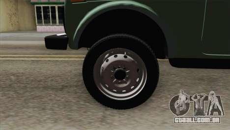 VAZ 2121 para GTA San Andreas traseira esquerda vista