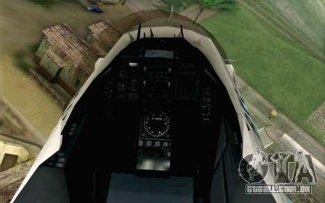 Mitsubishi F-2 Original JASDF Skin para GTA San Andreas vista traseira