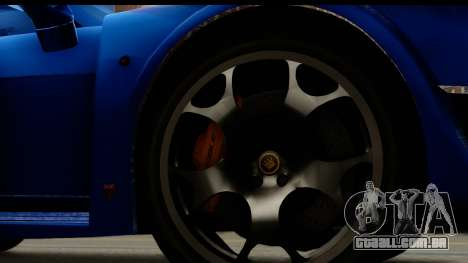 Noble M600 2010 FIV АПП para GTA San Andreas vista traseira