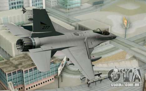 F-16 Fighting Falcon RNoAF PJ para GTA San Andreas esquerda vista